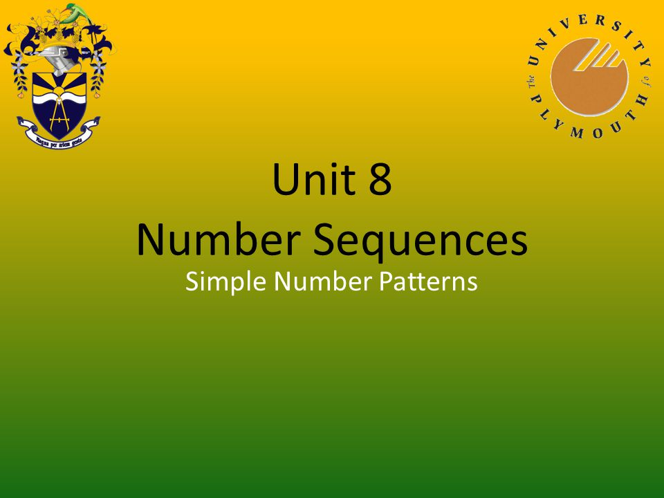 Unit 8 Number Sequences Linear Sequence