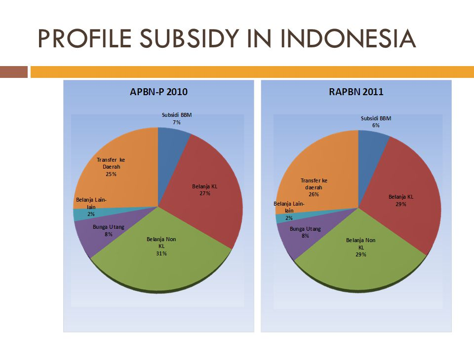 PROFILE SUBSIDY IN INDONESIA