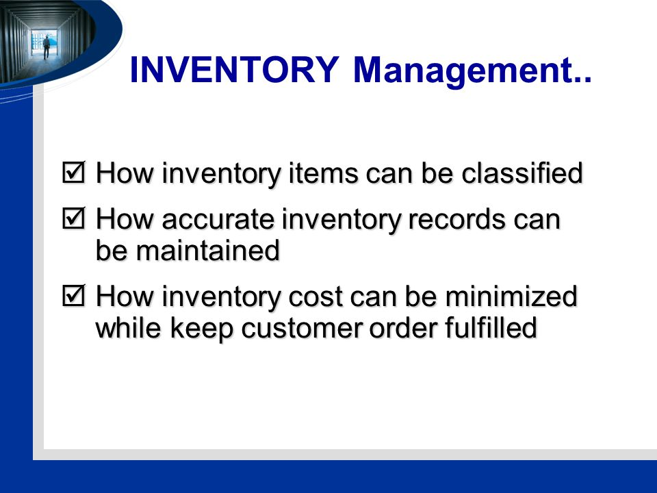 INVENTORY Management..