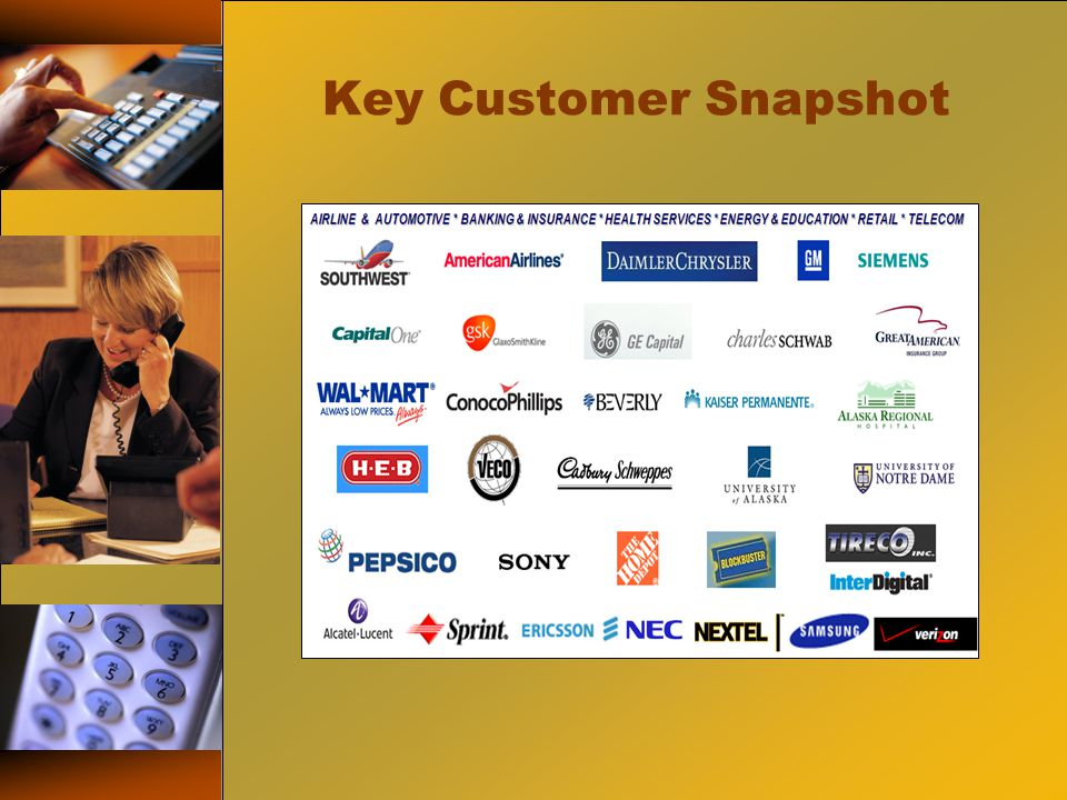 Key Customer Snapshot