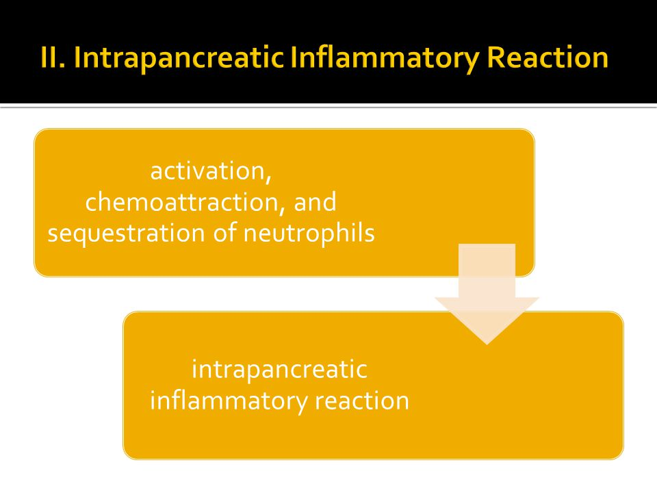 activation, chemoattraction, and sequestration of neutrophils intrapancreatic inflammatory reaction