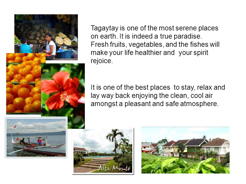  It is a 15.4-hectare residential project which is only a few minutes away from the Tagaytay ridge.