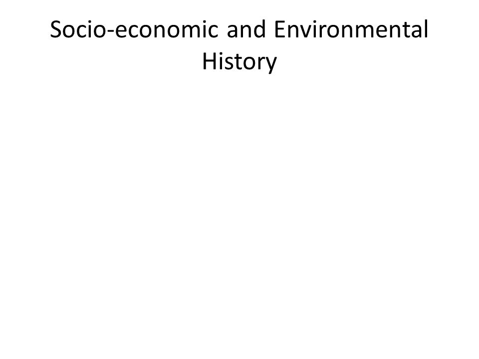 Socio-economic and Environmental History