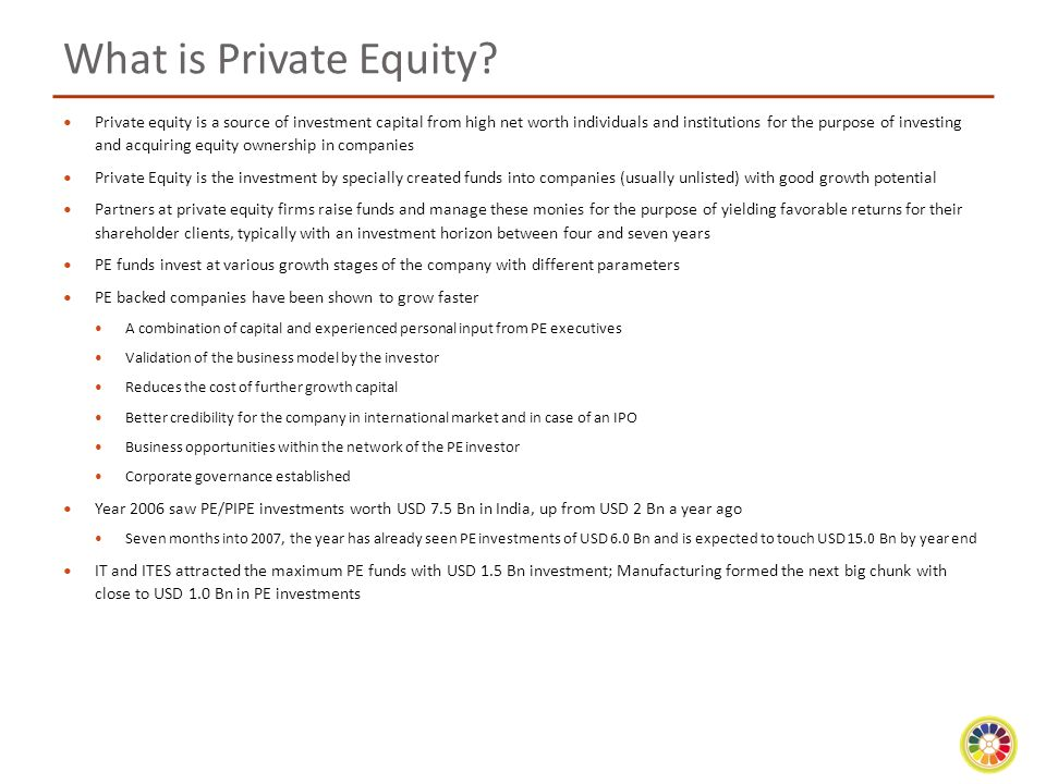What is Private Equity.