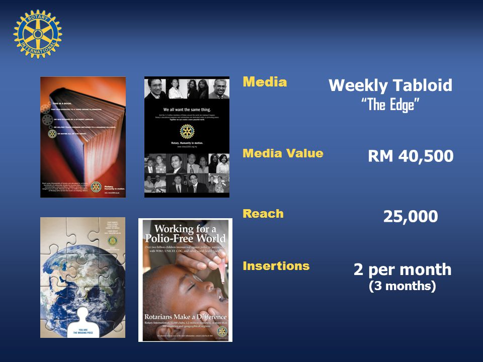 Media Weekly Tabloid The Edge Media Value RM 40,500 Reach 25,000 Insertions 2 per month (3 months)