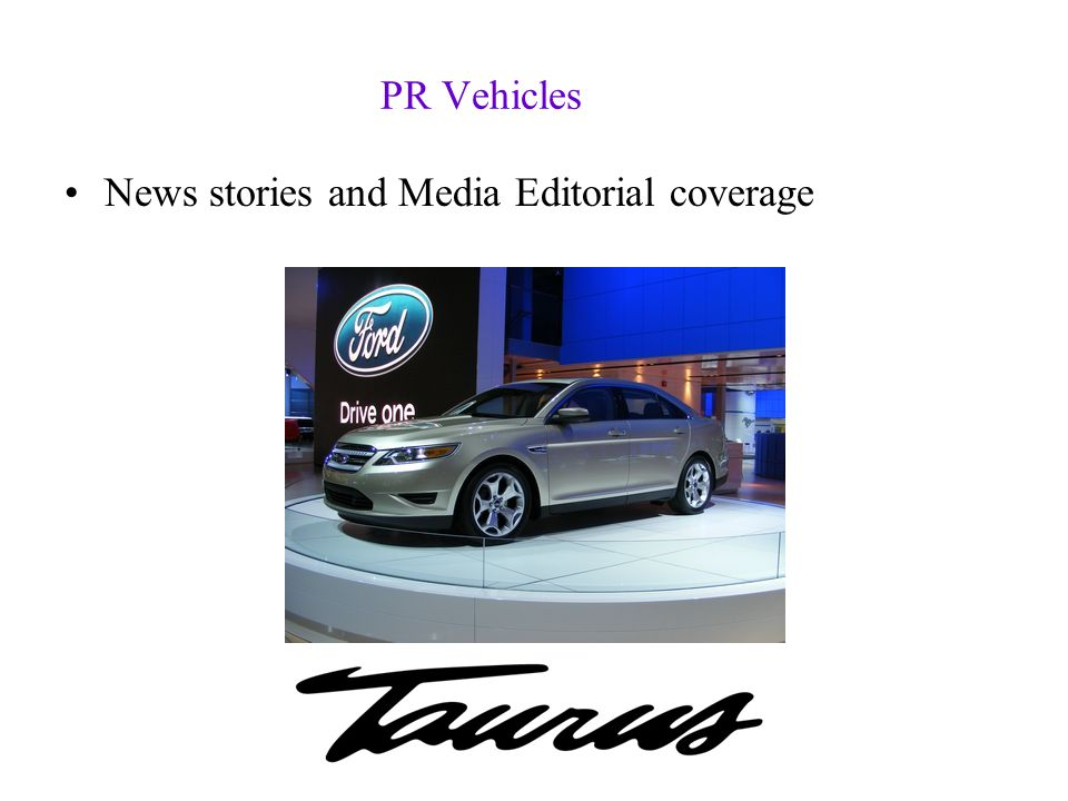 PR Vehicles News stories and Media Editorial coverage