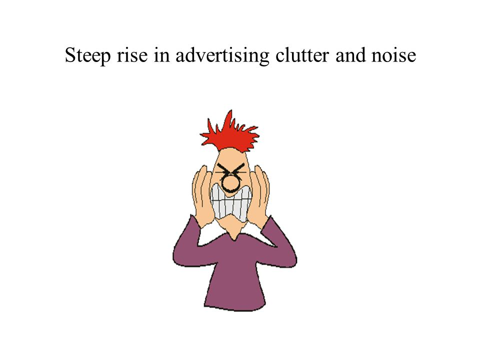 Steep rise in advertising clutter and noise
