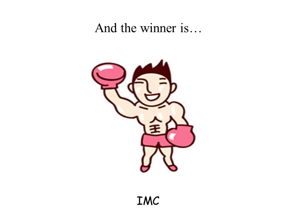 And the winner is… IMC