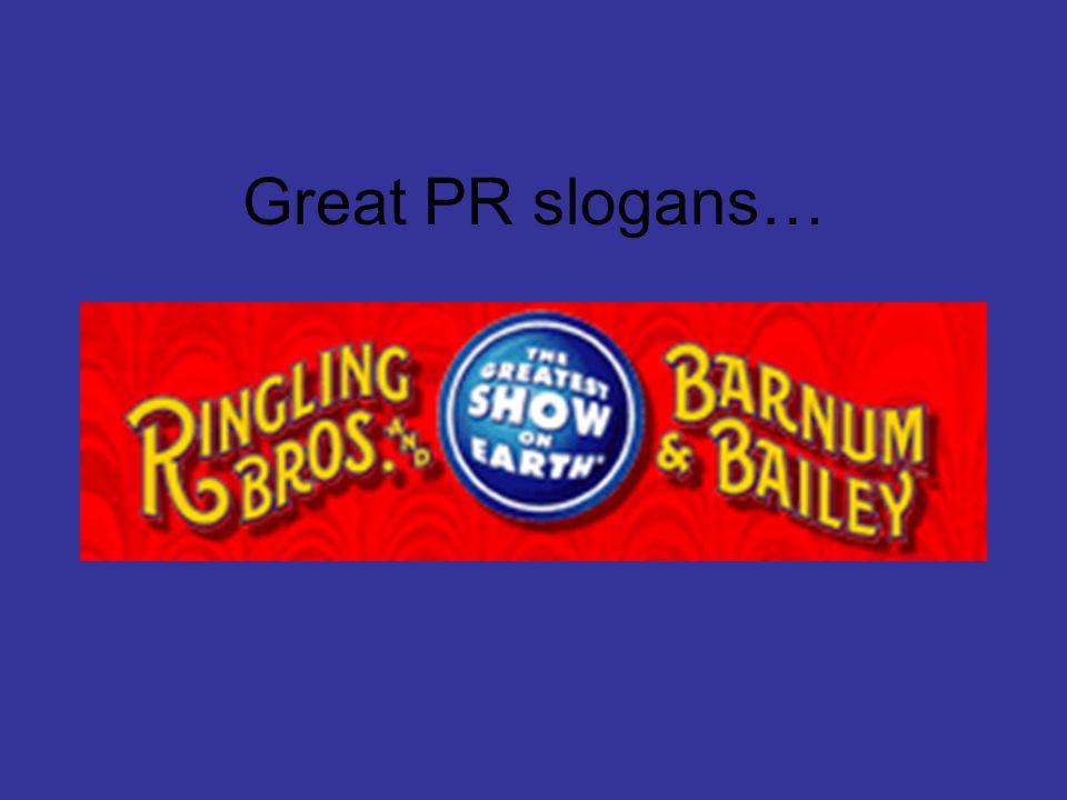 Great PR slogans…