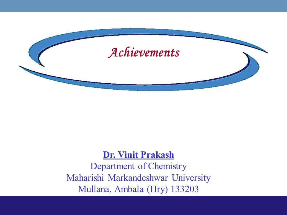 PAHs from Waste Incineration main Achievements Dr. Vinit Prakash Department of Chemistry Maharishi Markandeshwar University Mullana, Ambala (Hry) 1332