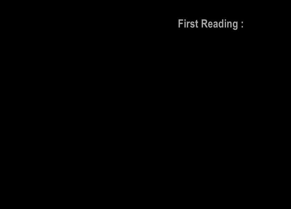 First Reading :
