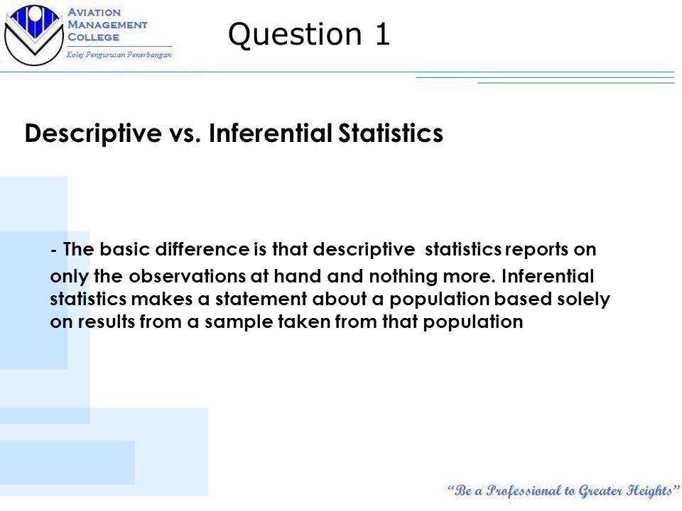 Descriptive vs.