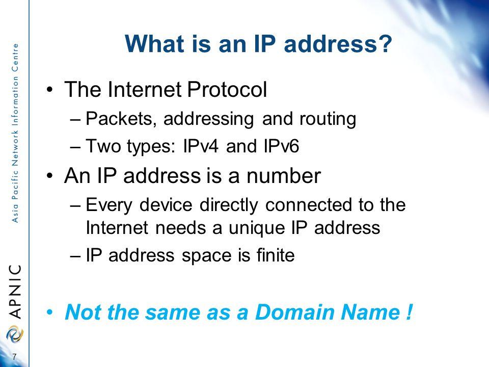 IP Addresses vs Domain Names The Internet 2001:0C00:8888:: My Computerwww.