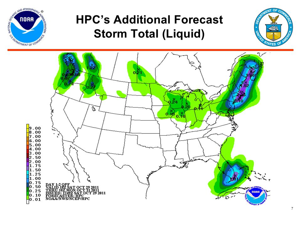 HPC's Additional Forecast Storm Total (Liquid) 7