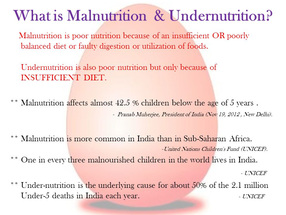 What is Malnutrition & Undernutrition.