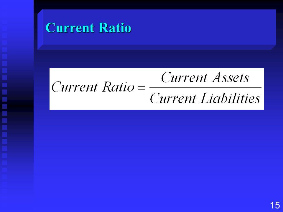 15 Current Ratio