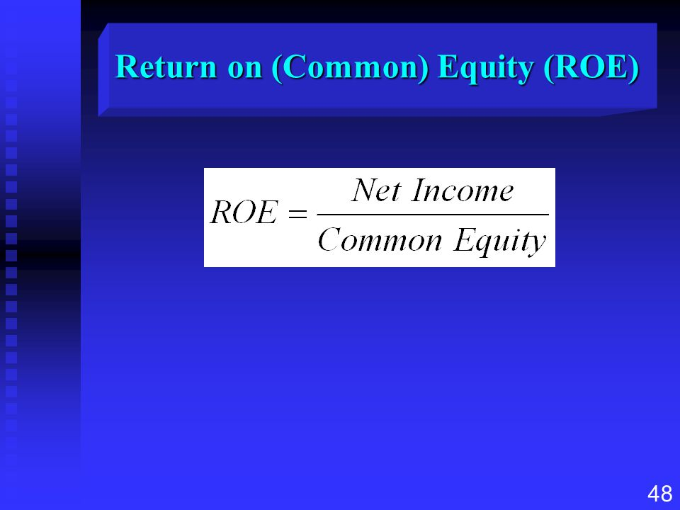 48 Return on (Common) Equity (ROE)