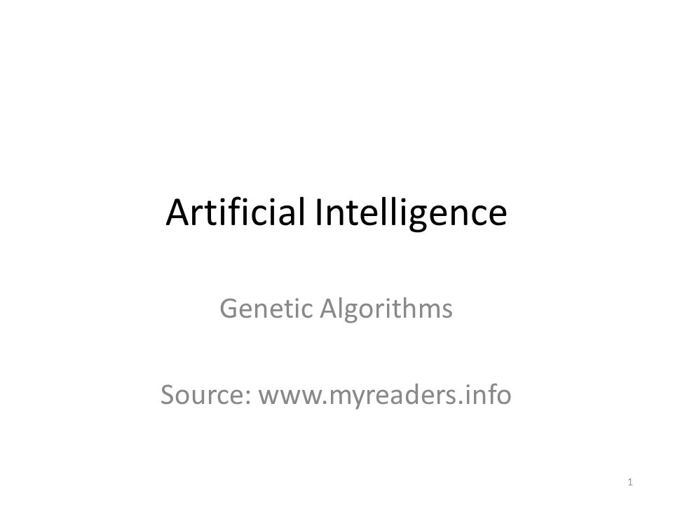Encoding- Genetic Algorithms 22