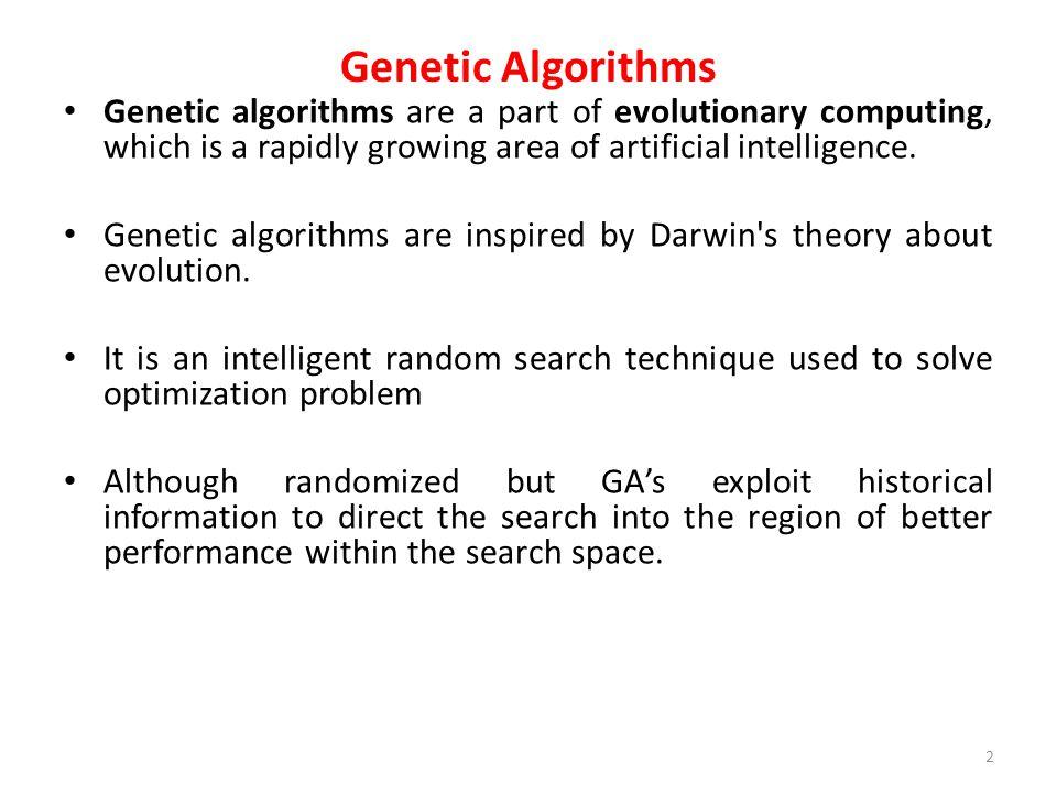 Genetic Algorithm Approach to problem Maximize f(x)=x2 63