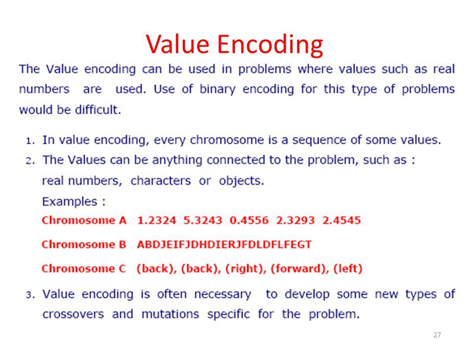 Value Encoding 27