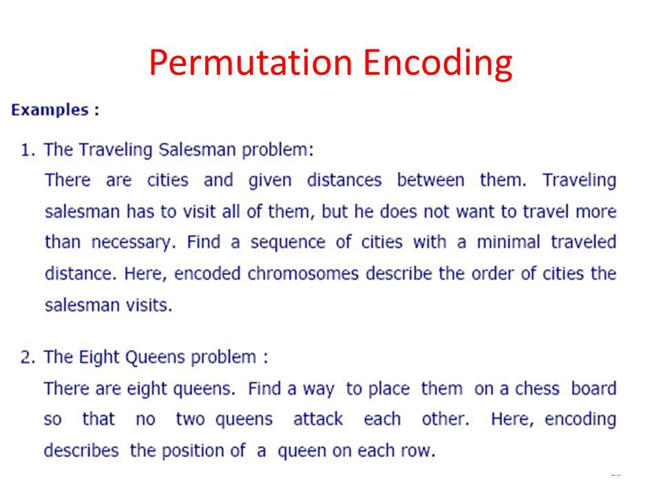 Permutation Encoding 29