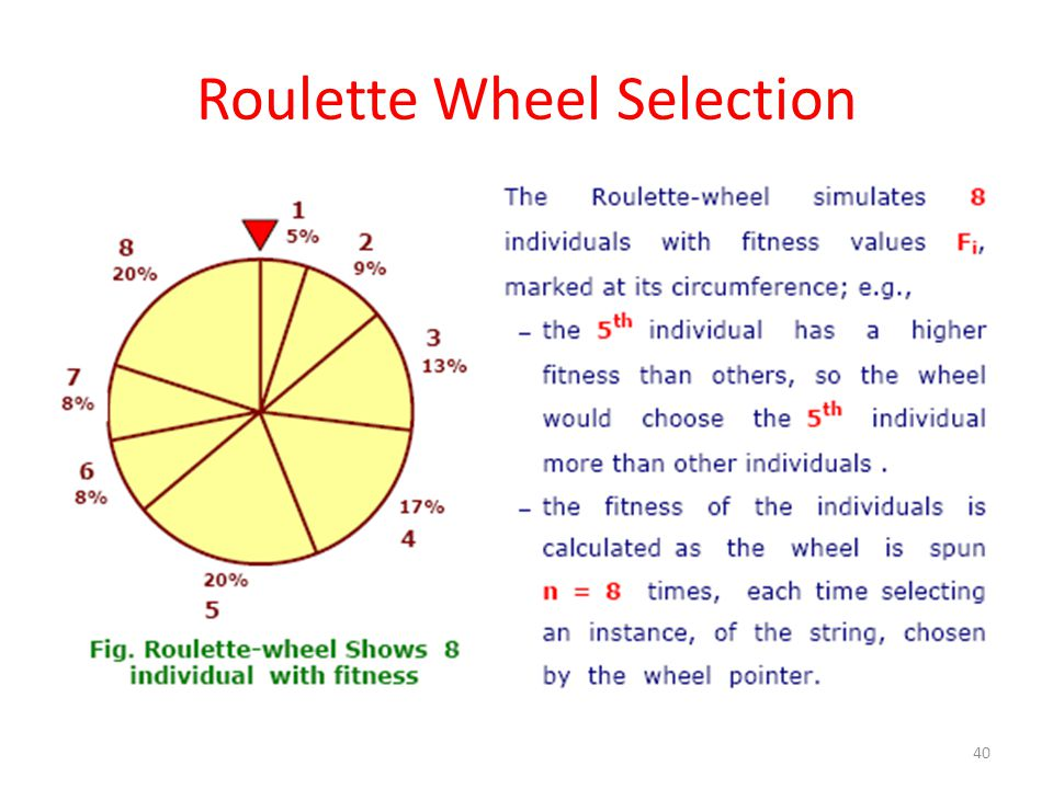 Roulette Wheel Selection 40