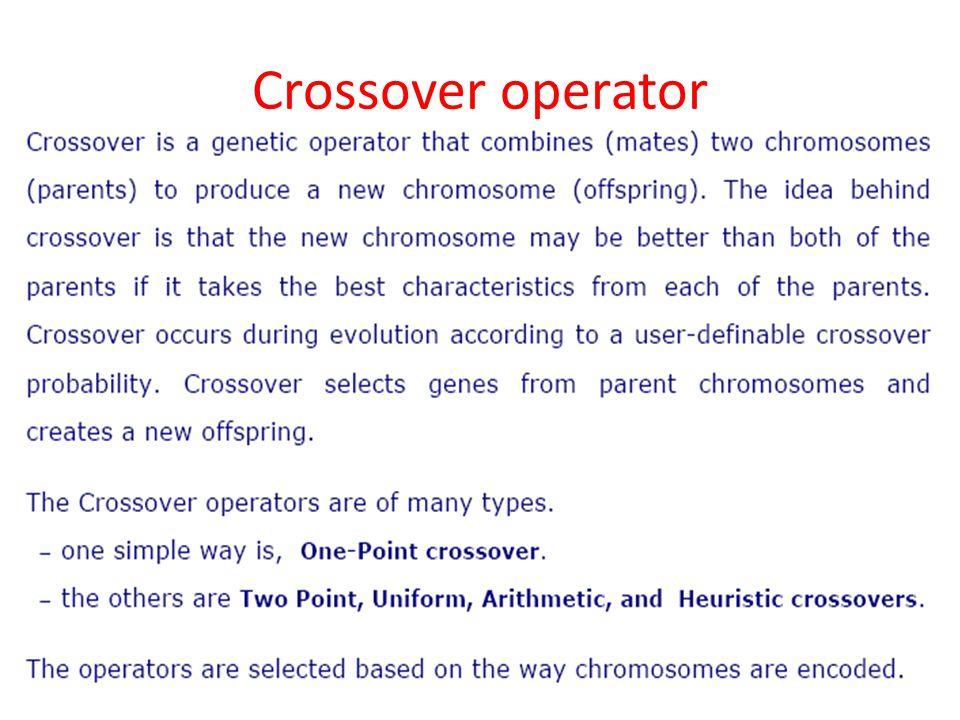Crossover operator 44
