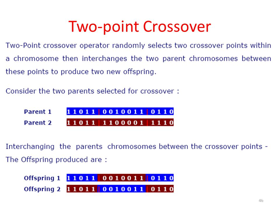 Two-point Crossover 46