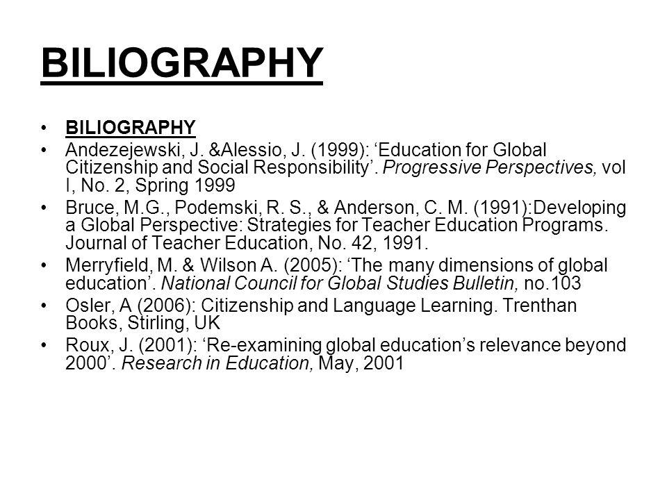 BILIOGRAPHY Andezejewski, J. &Alessio, J.