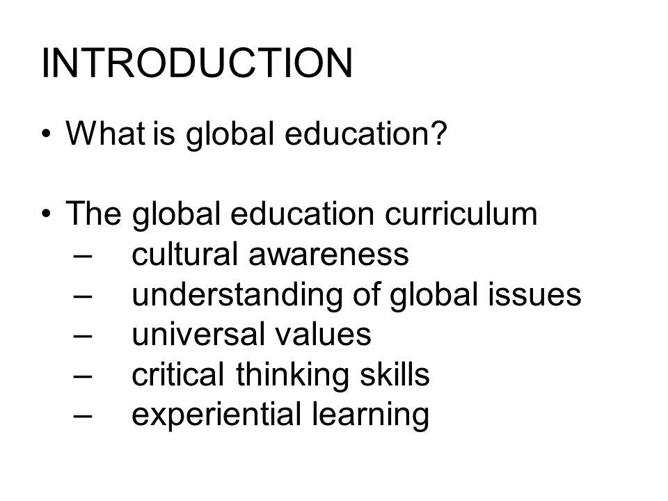 THE GLOBAL CURRICULUM CULTURAL AWARENESS cultural sensitivity.
