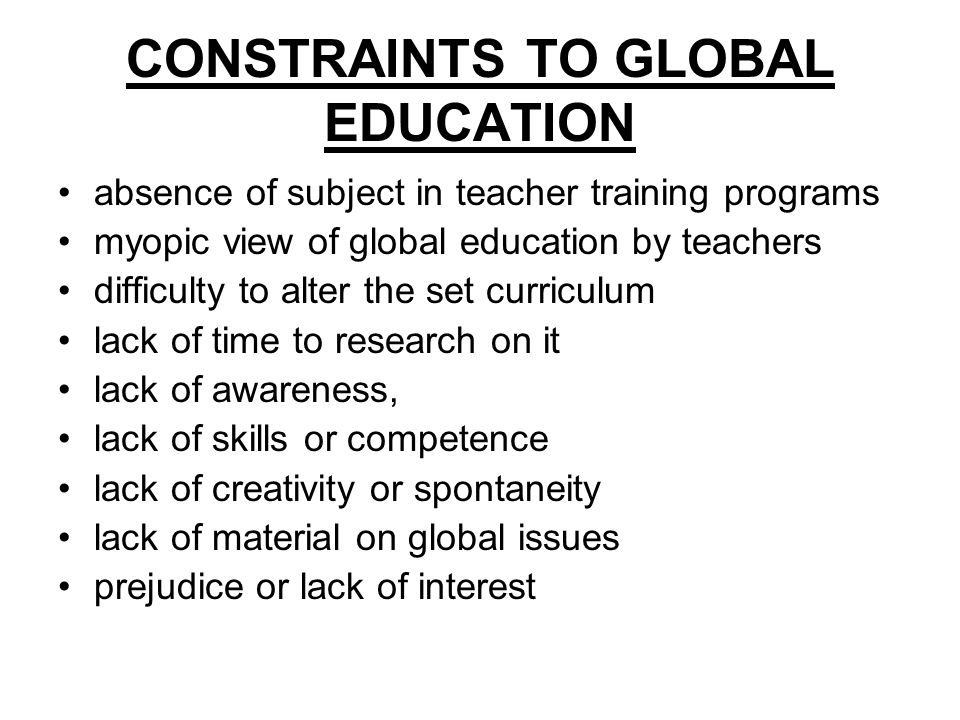 INTEGRATING THE GLOBAL CURRICULUM IN THE LANGUAGE CLASS the social context of language the global nature of language itself (i.e it is not subject specific) the 'content carrier' component of language Using the global curiculum as content to teach language skills, grammar & vocab.