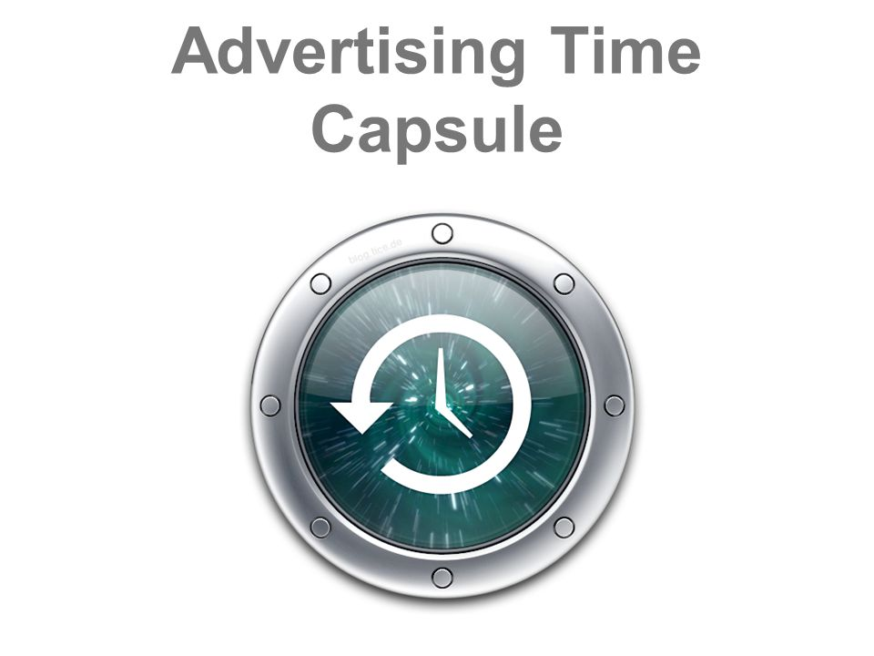 Advertising Time Capsule