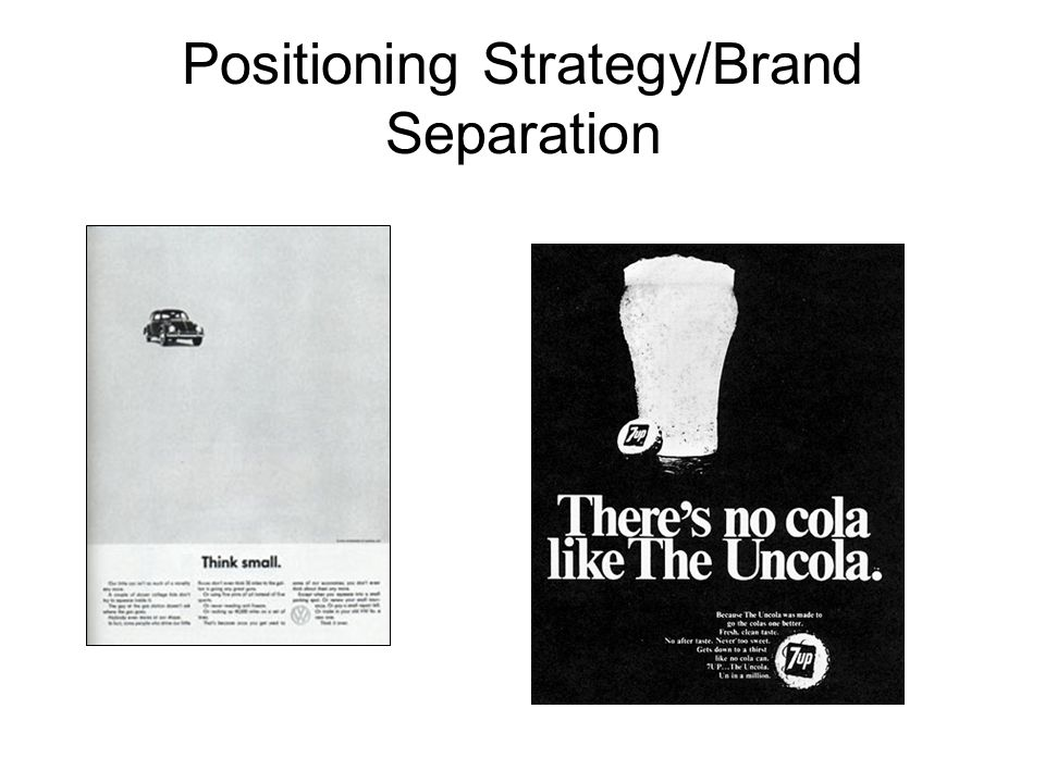 Positioning Strategy/Brand Separation