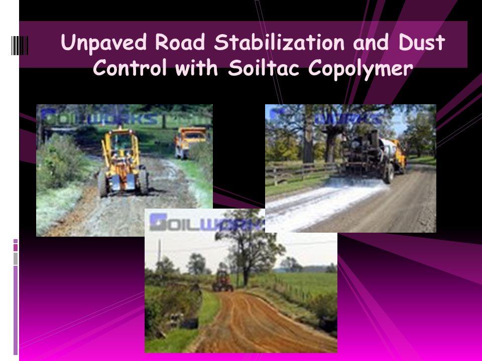 Road Shoulder Dust Control with Soiltac Soil Stabilizer & Dust Control Agent
