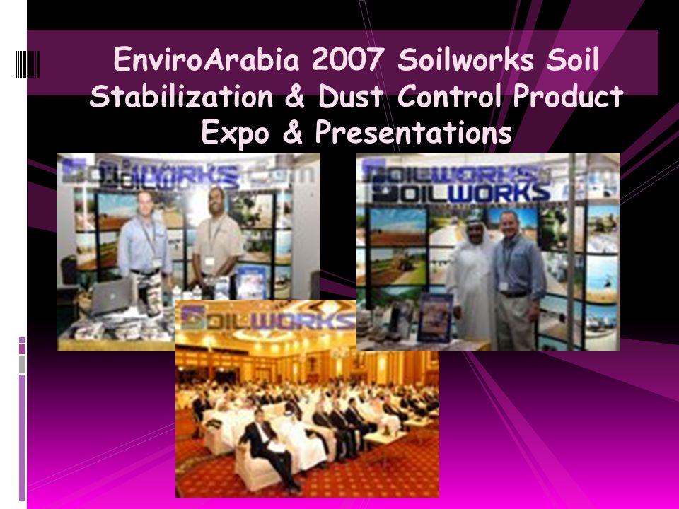 Saudi Aramco Petroleum Dust Control, Sand & Road Stabilization with Soiltac