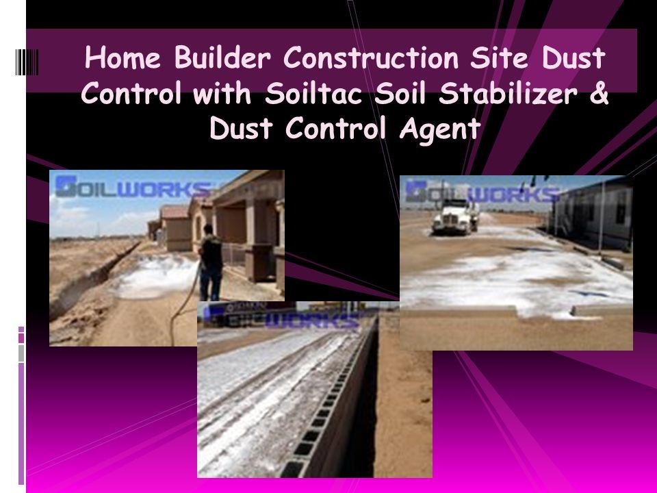 Home Builder Model Home Parking Lot Stabilized with Soiltac Soil Stabilizer & Dust Control Agent