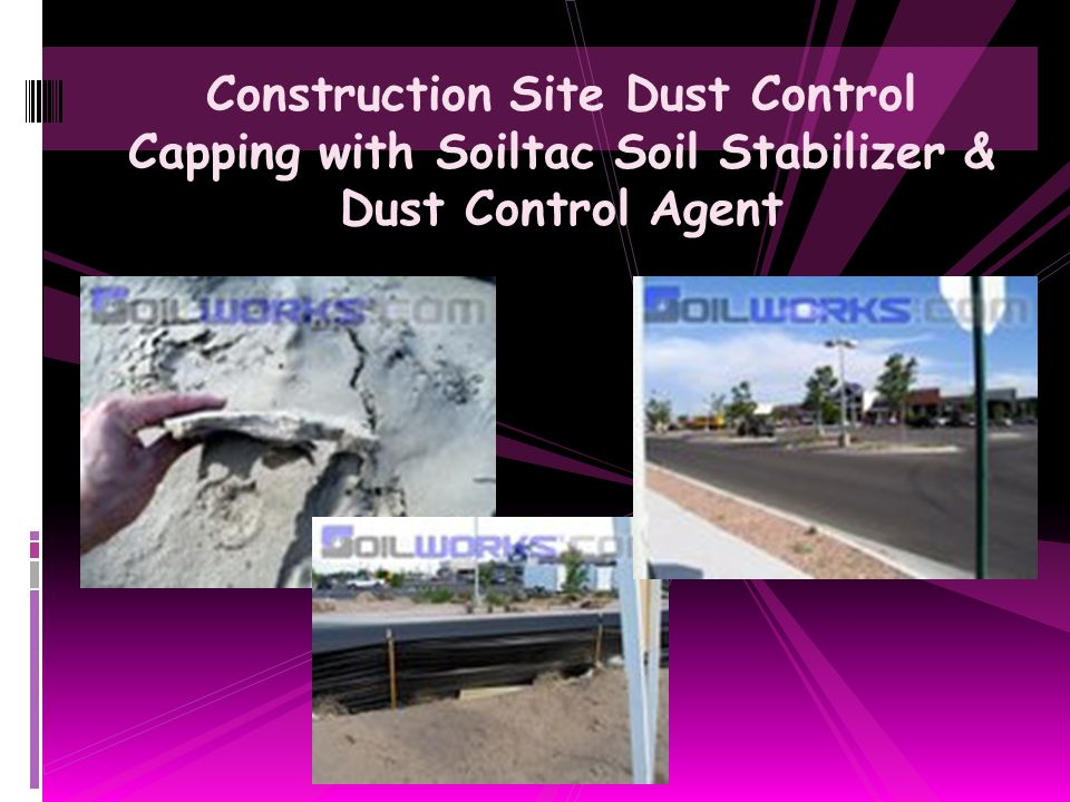 Blow Sand Stabilized Construction Access Road with Soiltac Soil Stabilizer & Dust Control Agent