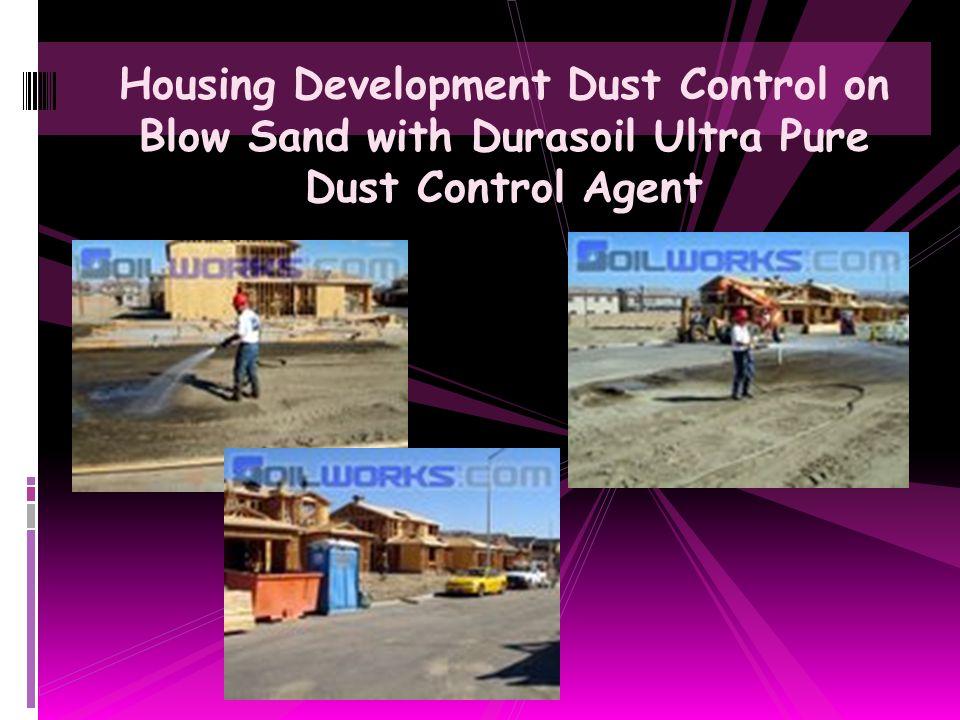 Airport Dust Control & Foreign Object Debris Control with Soiltac Soil Stabilizer & Dust Control