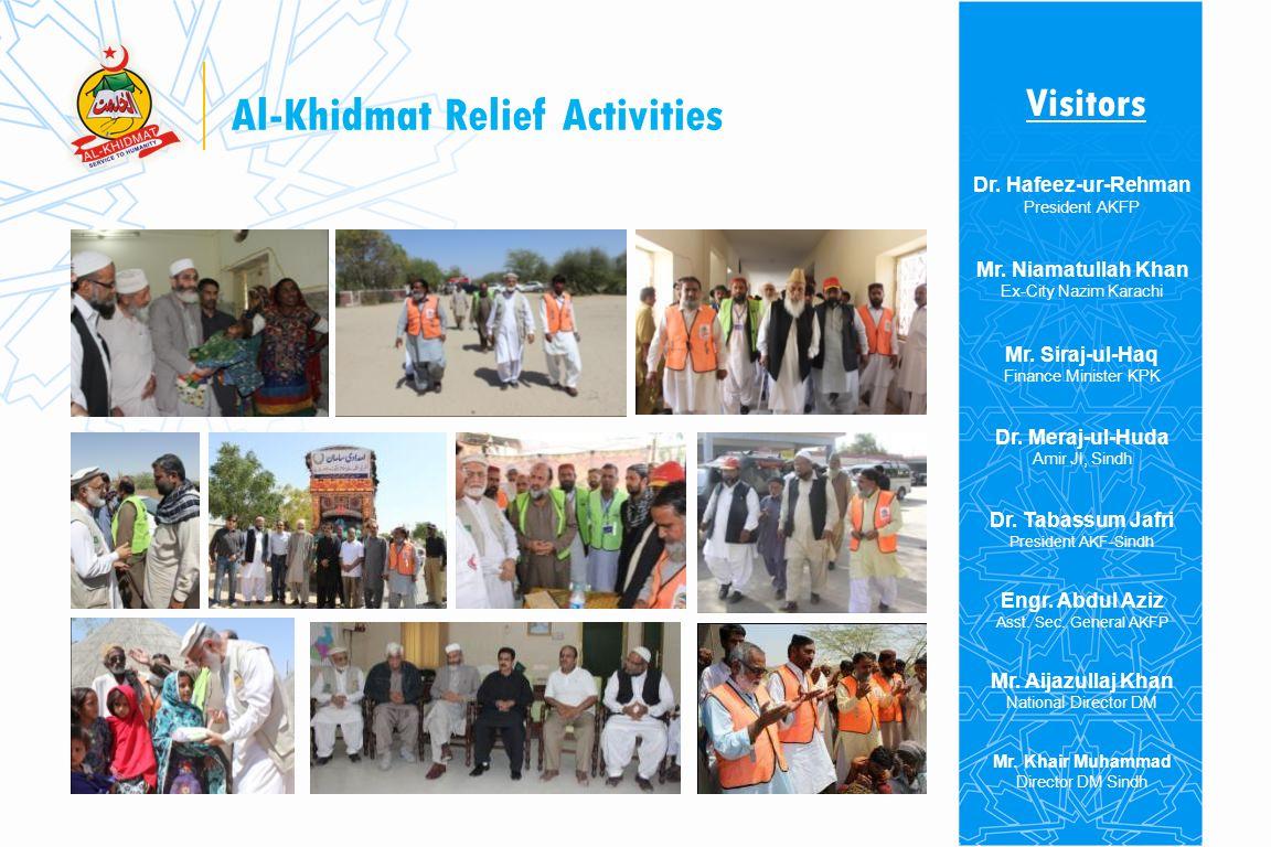 Al-Khidmat Relief Activities Kitchen 4 Beneficiaries 25,000 Al-Khidmat Kitchen Peoples