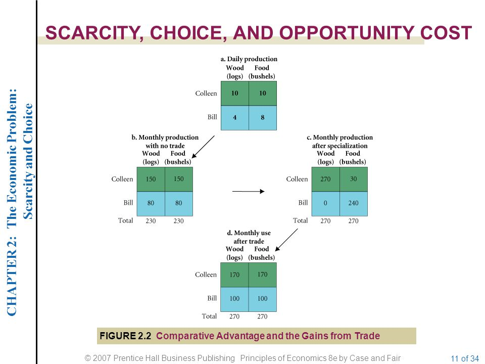 CHAPTER 2: The Economic Problem: Scarcity and Choice © 2007 Prentice Hall Business Publishing Principles of Economics 8e by Case and Fair 11 of 34 SCA