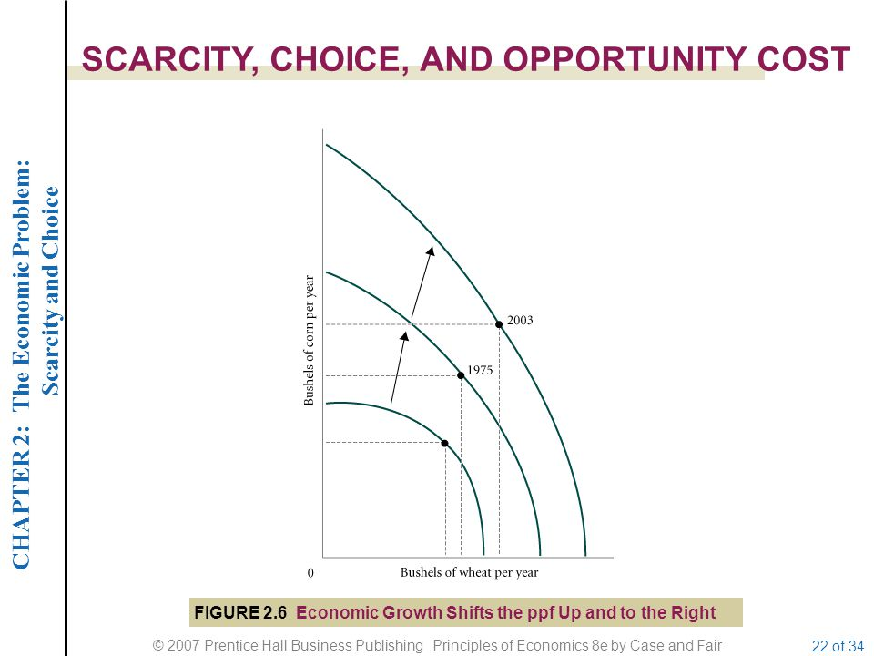 CHAPTER 2: The Economic Problem: Scarcity and Choice © 2007 Prentice Hall Business Publishing Principles of Economics 8e by Case and Fair 22 of 34 SCA