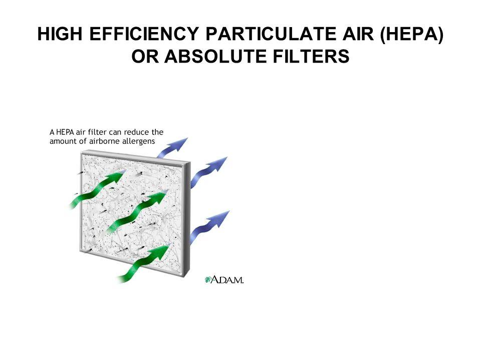 HIGH EFFICIENCY PARTICULATE AIR (HEPA) OR ABSOLUTE FILTERS