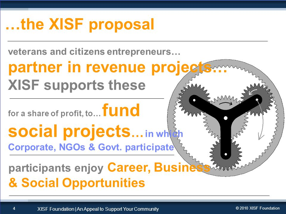 © 2010 XISF Foundation XISF Foundation   An Appeal to Support Your Community 5 join hands with other volunteers it just does not matter, Who U are & what YOU do, every helping hand makes a HUGE Difference … like it .
