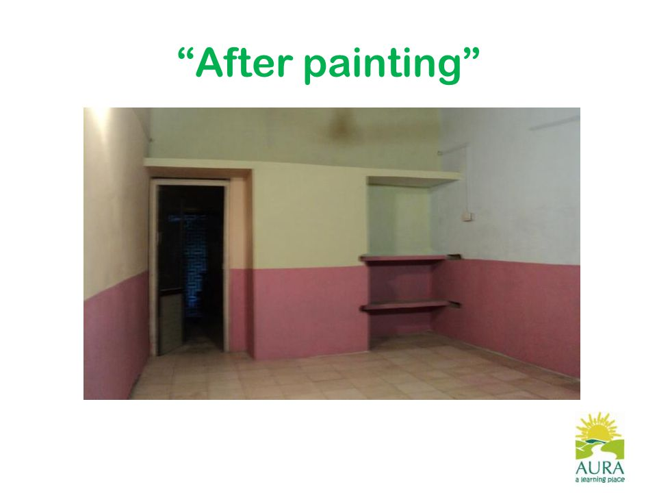 After painting