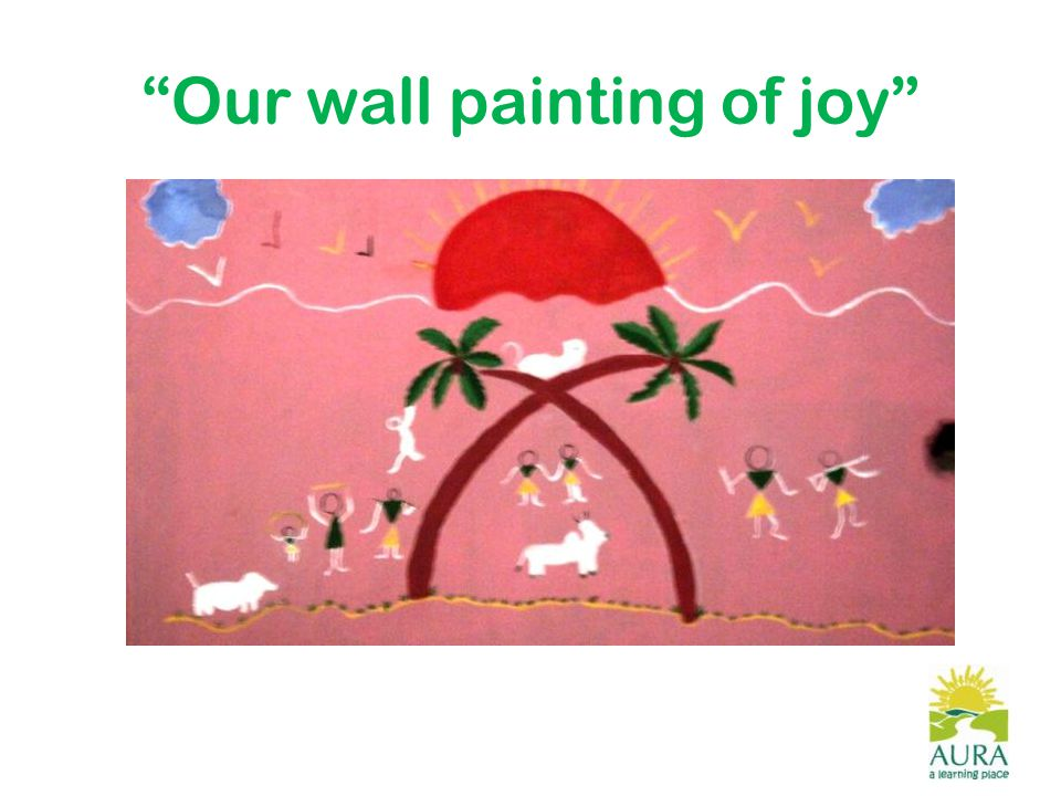 Our wall painting of joy