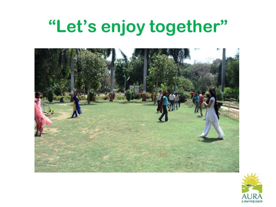 Let's enjoy together