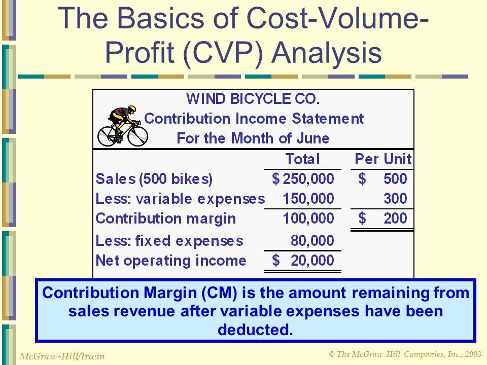 © The McGraw-Hill Companies, Inc., 2003 McGraw-Hill/Irwin Multi-product break-even analysis Rounding error Fixed expenses CM Ratio Break-even sales = $170,000 0.482 = $352,697 =