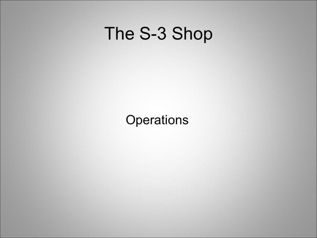 The S-3 Shop Operations