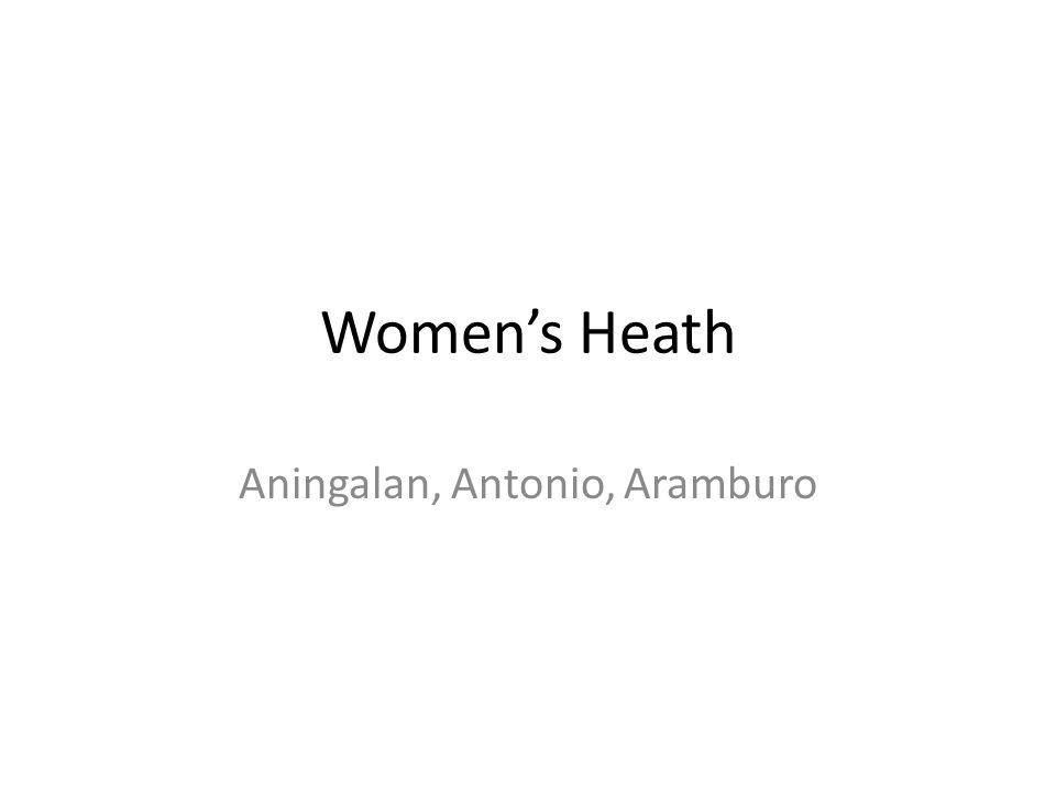 Women's Heath Aningalan, Antonio, Aramburo