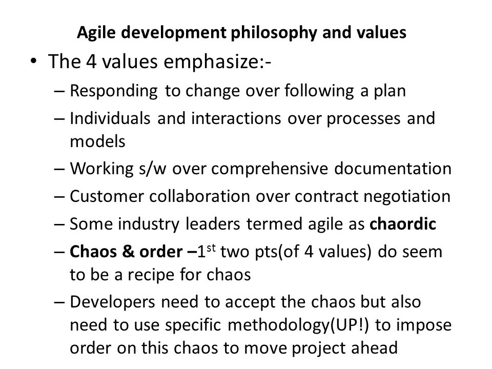 Agile modeling principles Develop s/w as your primary goal Enable next effort as your secondary goal(2 objectives!) – First requirements model is necessary to develop design model – Though high quality s/w is imp,still long term use of it is v.imp Minimize your modeling activity Embrace(accept) change and change incrementally Model with a purpose Build multiple models Build high quality models & get feedback rapidly Focus on content rather than representation Learn from each other with open communication Know your models and how to use them Adapt to specific project needs